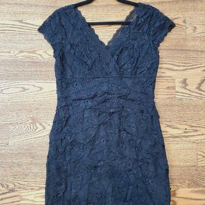 Laura Petites Lace and Sequin Party Dress